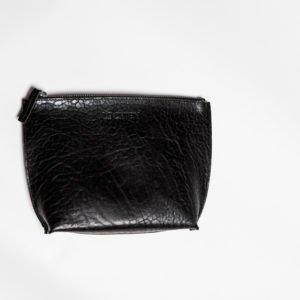 Schwarze Kulturtasche Corgi