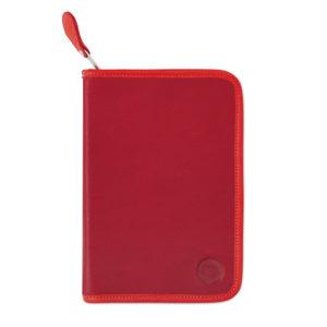 Schulmäppchen Nils aus Leder in Rot