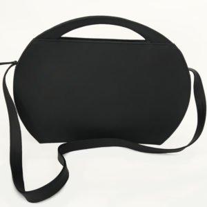 Elegante Aktentasche Freya von der Marke Olbrish b aus Berlin. Diese tasche hat eine innovative ovale Form.