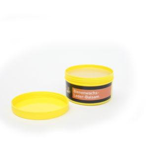 B&E Bienenwachs Balsam für Glattleder mit offenem Deckel. 250 ml Dose Farblos.