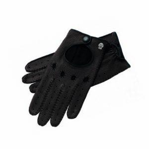 Autofahrerhandschuhe in Schwarz.