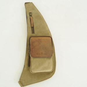 Crox Over Brusttasche aus soliden Nubukleder