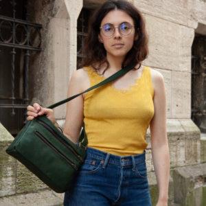 MOOI Handtasche aus Braunschweig in Grün