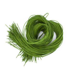 Ziegenleder Rundlederbänder Hellgrün